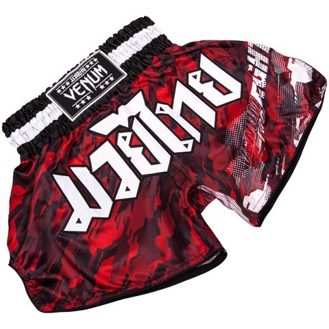 QUẦN VENUM TECMO MUAY THAI SHORTS - RED/BLACK