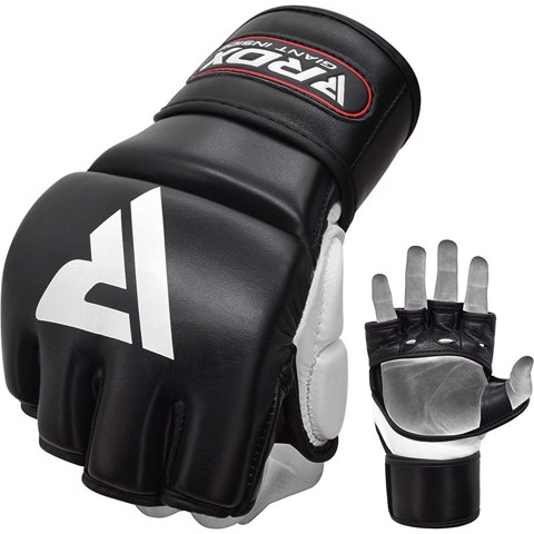 Găng Tay Rdx Leather T1 Training Mma Gel Grappling Gloves