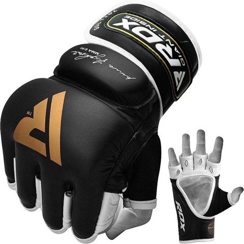 Găng Tay Rdx Leather T2 Gel Mma Training Fighter Gloves