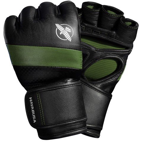 GĂNG TAY HAYABUSA T3 MMA GLOVES - BLACK/GREEN