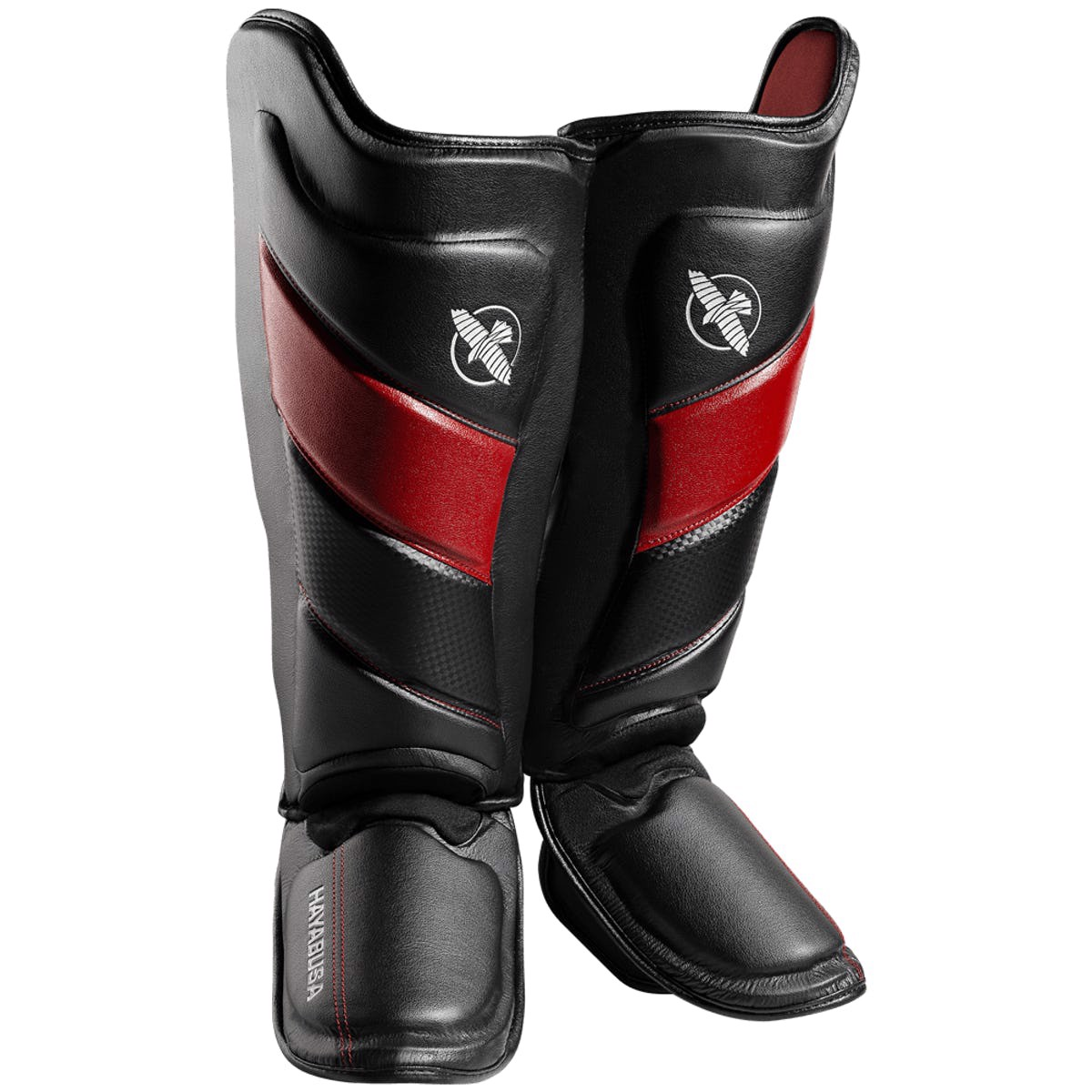 Bảo Hộ Chân Hayabusa T3 Striking Shin Guards - Black/Red