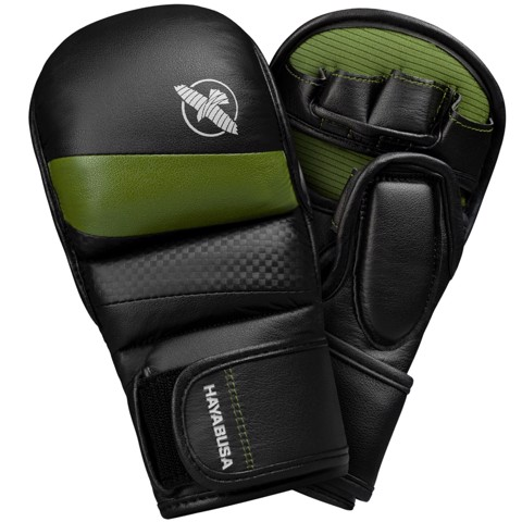 Găng Tay Hayabusa T3 7Oz Hybrid Gloves - Black/Green