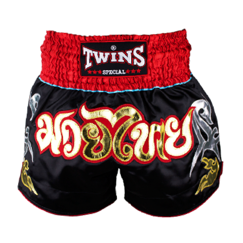 Quần Twins Special Muay Thai Shorts Black Red Ntbs-005