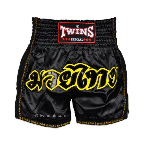 Quần Twins Special Muay Thai Shorts Black Tws-913