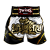 Quần Twins Special Tbs-Dragon-3 Muay Thai Shorts  White Black