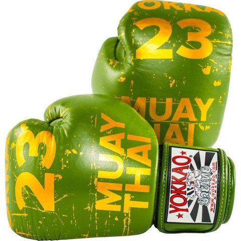 GĂNG TAY YOKKAO FYGL-37 URBAN MUAY THAI & BOXING GLOVES - GREEN