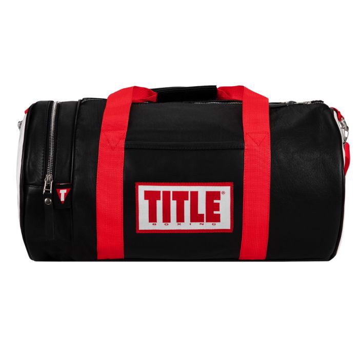 Túi Title Boxing Vintage Leather Gear Bag - Black/Red