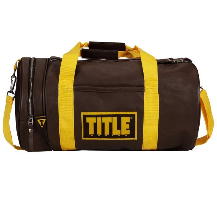 TÚI TITLE BOXING VINTAGE LEATHER GEAR BAG - BROWN/YELLOW