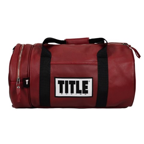 Túi Title Boxing Vintage Leather Gear Bag - Maroon