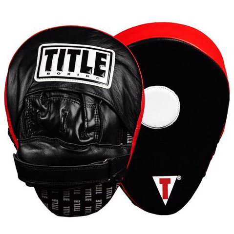 Đích Đấm Title Incredi-Ball Leather Punch Mitts 2.0 - Black/Red