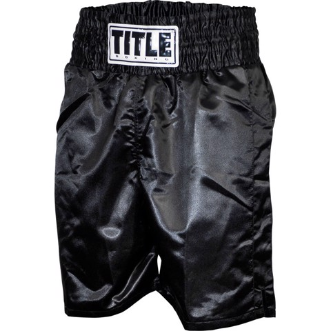 QUẦN TITLE PROFESSIONAL SATIN BOXING TRUNKS - BLACK