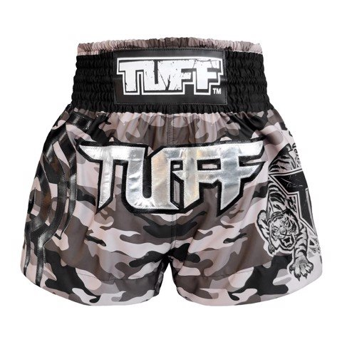 QUẦN TUFF MUAY THAI BOXING SHORTS NEW GREY MILITARY CAMOUFLAGE
