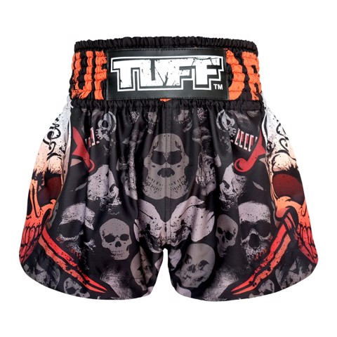 Quần Tuff Muay Thai Boxing Shorts Battalion Skull In Black