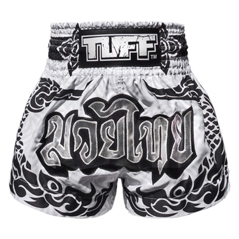 Quần Tuff Muay Thai Boxing Shorts The Great Hongsa White