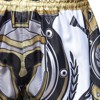 Quần Tuff Muay Thai Boxing Shorts Golden Gladiator In White