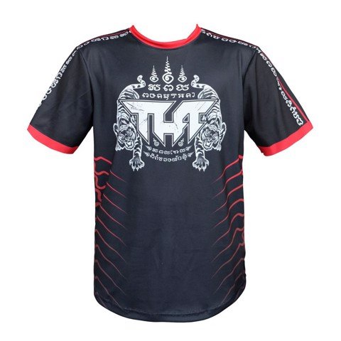 ÁO Tuff Muay Thai Shirt True Power Double Tiger Black