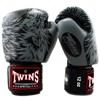 Găng Tay Twins Fbgv-50 Velcro Gloves (Thailand Leather 100%) - Grey/Black
