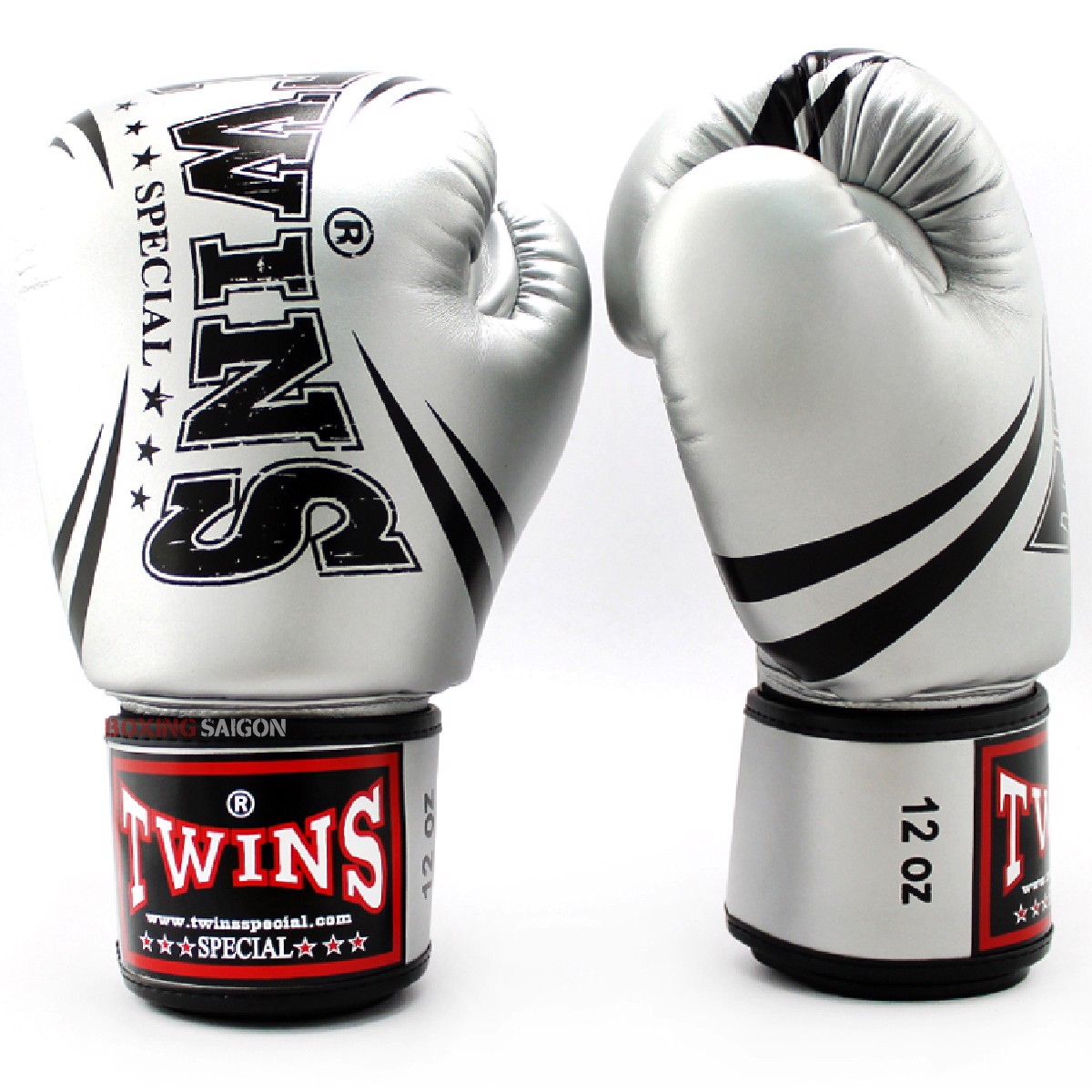 GĂNG TAY TWINS FBGVS3-TW6 FANCY BOXING GLOVES - SILVER