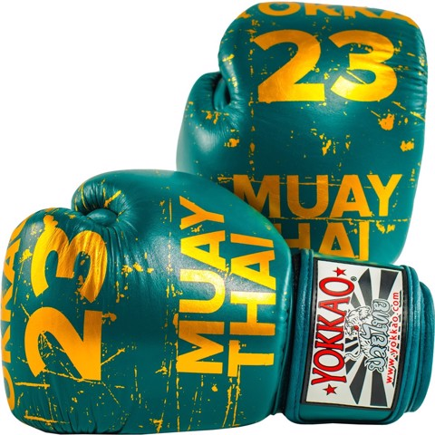 GĂNG TAY YOKKAO FYGL-38 URBAN MUAY THAI & BOXING GLOVES - PETROLEUM