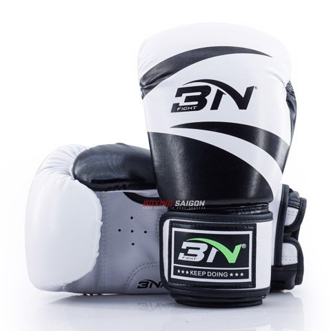 GĂNG TAY BN BOXING GLOVES - WHITE/BLACK