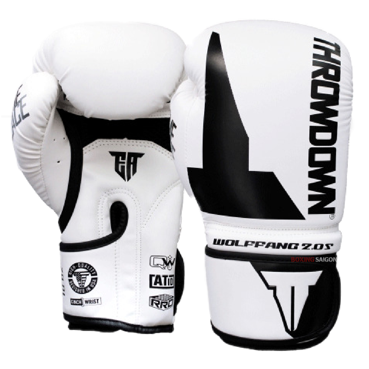 GĂNG TAY THROWDOWN WOLF FANG 2.0S BOXING GLOVES - WHITE/BLACK