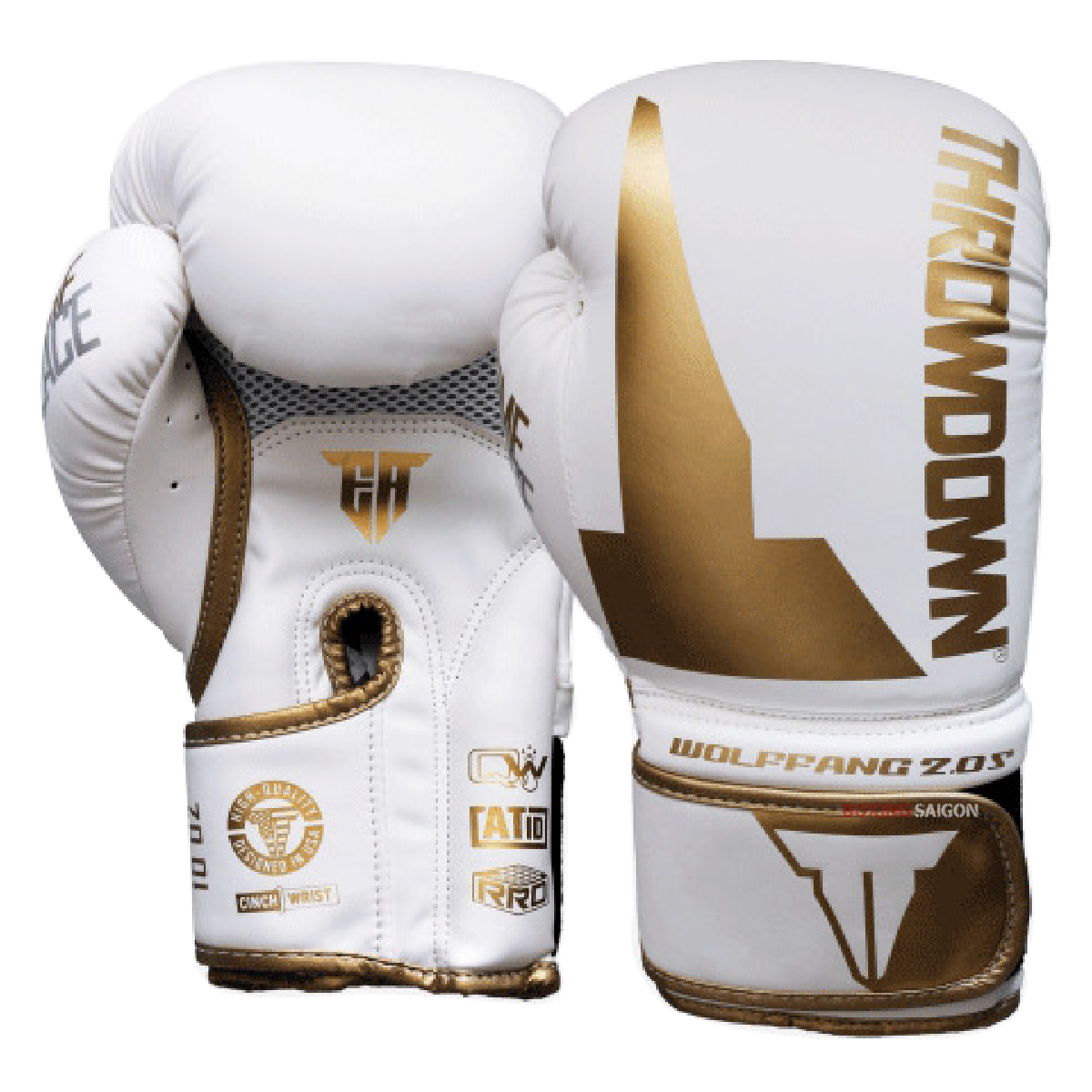GĂNG TAY THROWDOWN WOLF FANG 2.0S BOXING GLOVES - WHITE/GOLD