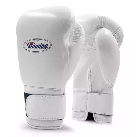 Găng Tay Boxing Winning Velcro Gloves - White
