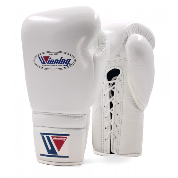 Găng Tay Boxing Winning Laces Gloves - White