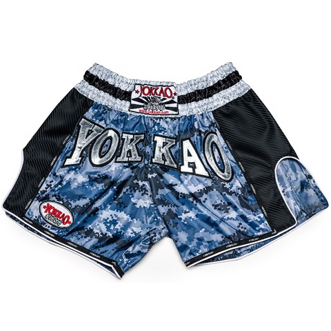 Quần Yokkao Tybs-03 Army Carbon Muay Thai Short - Blue