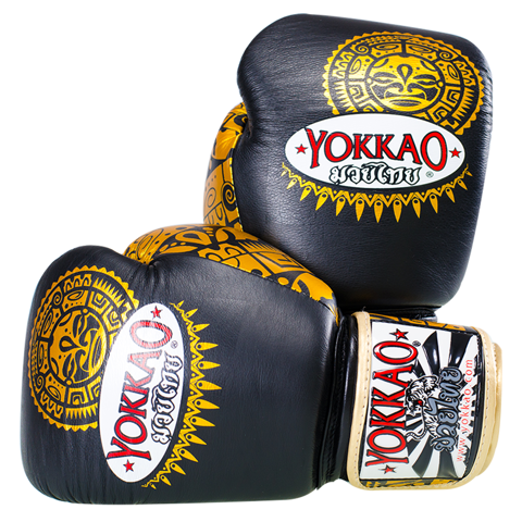 GĂNG TAY YOKKAO FYGL-19 MAUI BOXING GLOVES - BLACK/GOLD