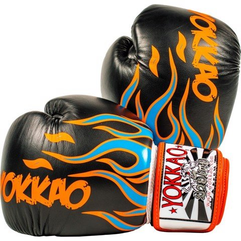 GĂNG TAY YOKKAO FYGL-31 INFERNO BLACK MUAY THAI & BOXING GLOVES