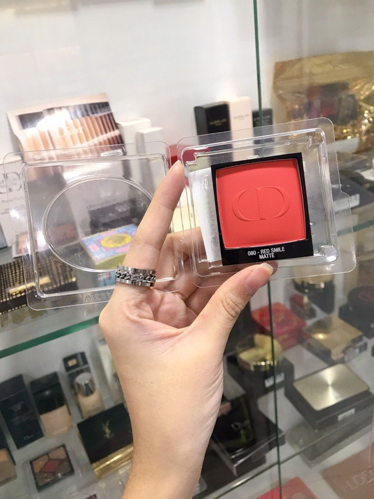 Phấn Má Hồng Dior Rouge Blush 080 Red Smile Matte Tester Full Size