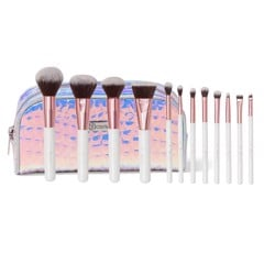 Bộ Cọ 12 Cây BH Cosmetics Crystal Quartz - 12 Piece Brush Set And Bag