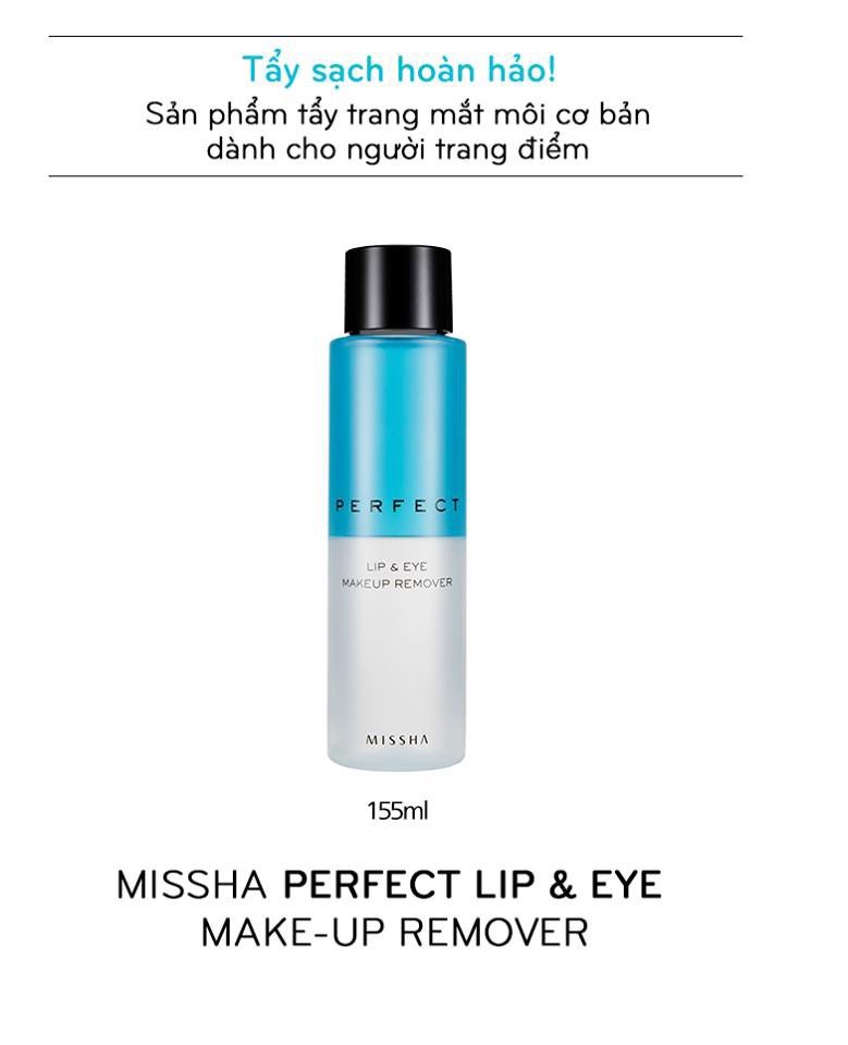 Nước Tẩy Trang Missha Perfect Lip & Eye Make-Up Remover