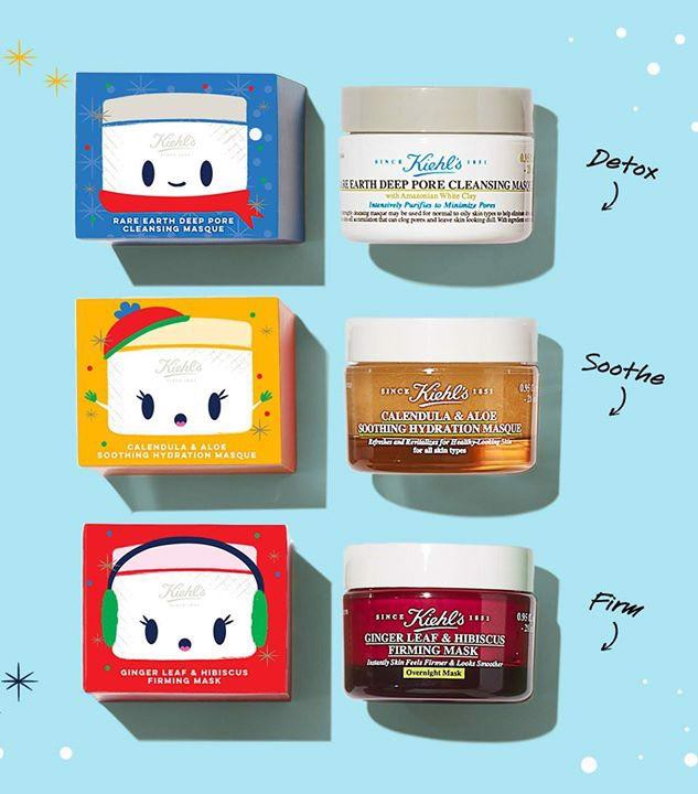 Bộ 3 Món Mặt Nạ Kiehl's Bannecker Merry Masking Limited Edition