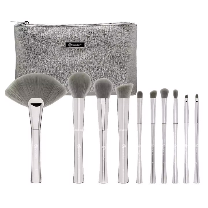 Cọ Bh Cosmetics Smoke 'n Mirrors - 10 Piece Metalized Brush Set