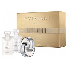 Giftset Nước Hoa Nữ Bvlgari Omnia Crystalline EDT 40ML + Lotion + Shower gel