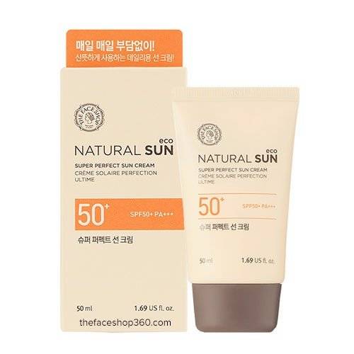Kem Chống Nắng Natural Sun Eco Super Perfect Sun Cream SPF50+ PA+++ 80ML