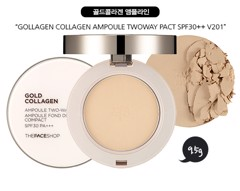 Kem Nền The Face Shop Gold Collagen Ampoule Two-Way Pact SPF/SPS30 PA+++