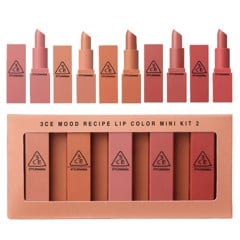 GiftSet Son 3CE Mood Recipe Lip Color Mini Kit 2
