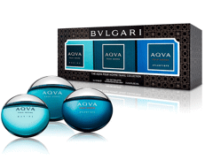 Gift Set Bvlgari Aqva Pour Homme Travel Collection EDT 3x15ML
