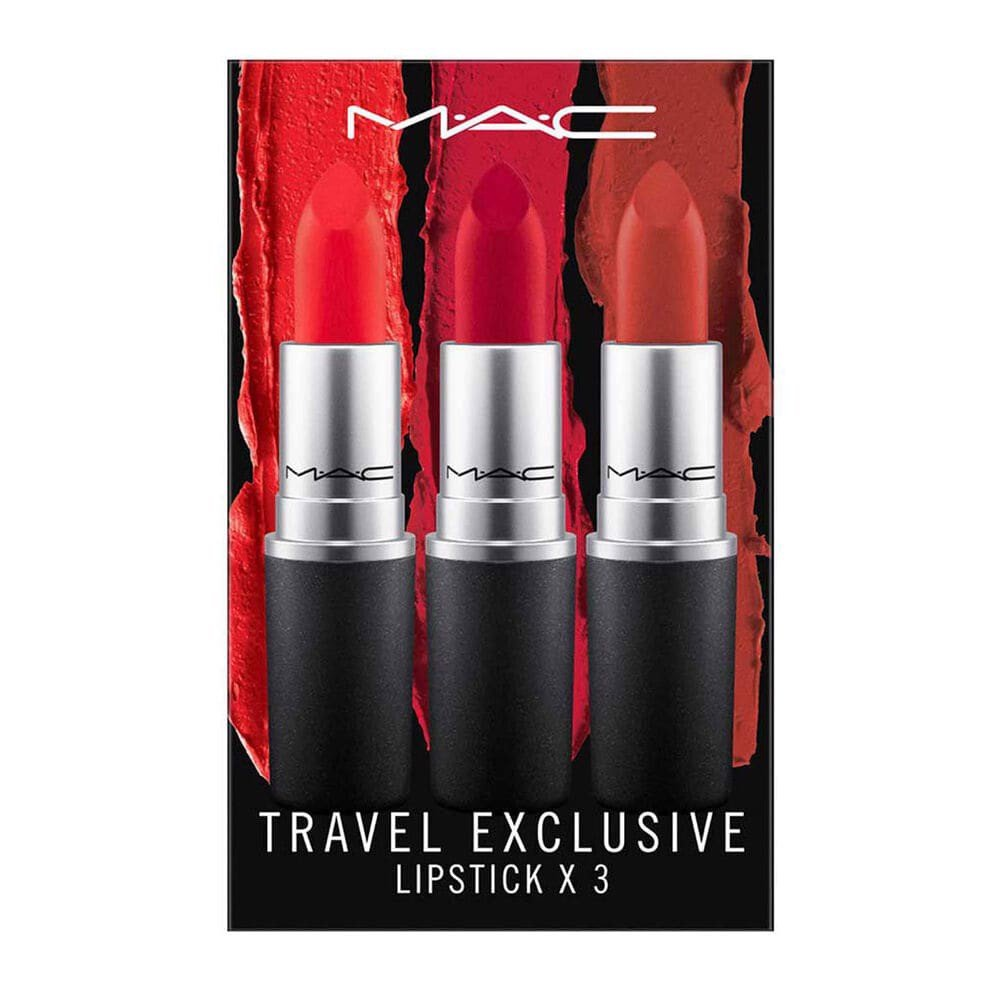 Set MAC Travel Exclusive Lipstick (Lady Danger, Ruby Woo, Chili )