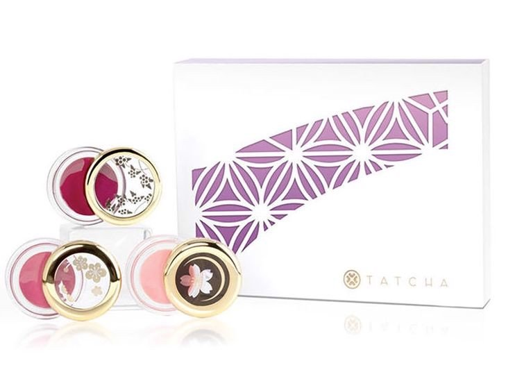 Set Dưỡng Môi Tatcha Camellia Kisses Lip Balm Trio - Limited Edition
