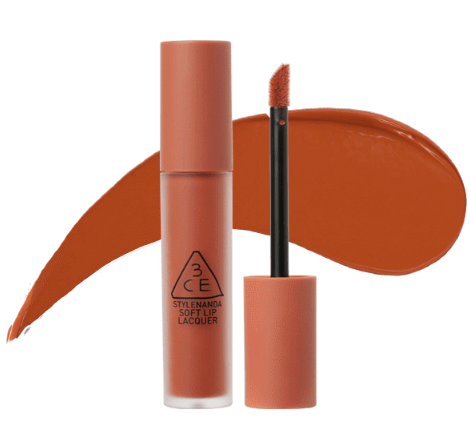 Son 3CE Kem Soft Lip Lacquer Màu Tawny Red