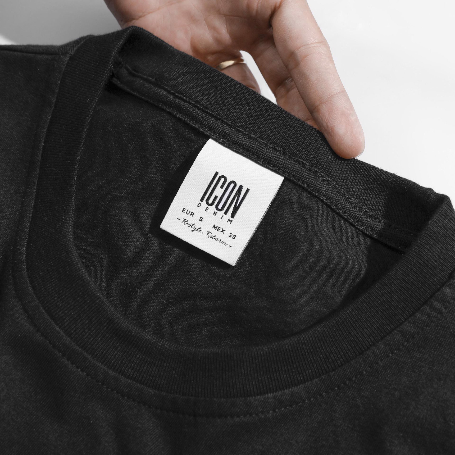 Áo Thun ICON DENIM B Punch Needle