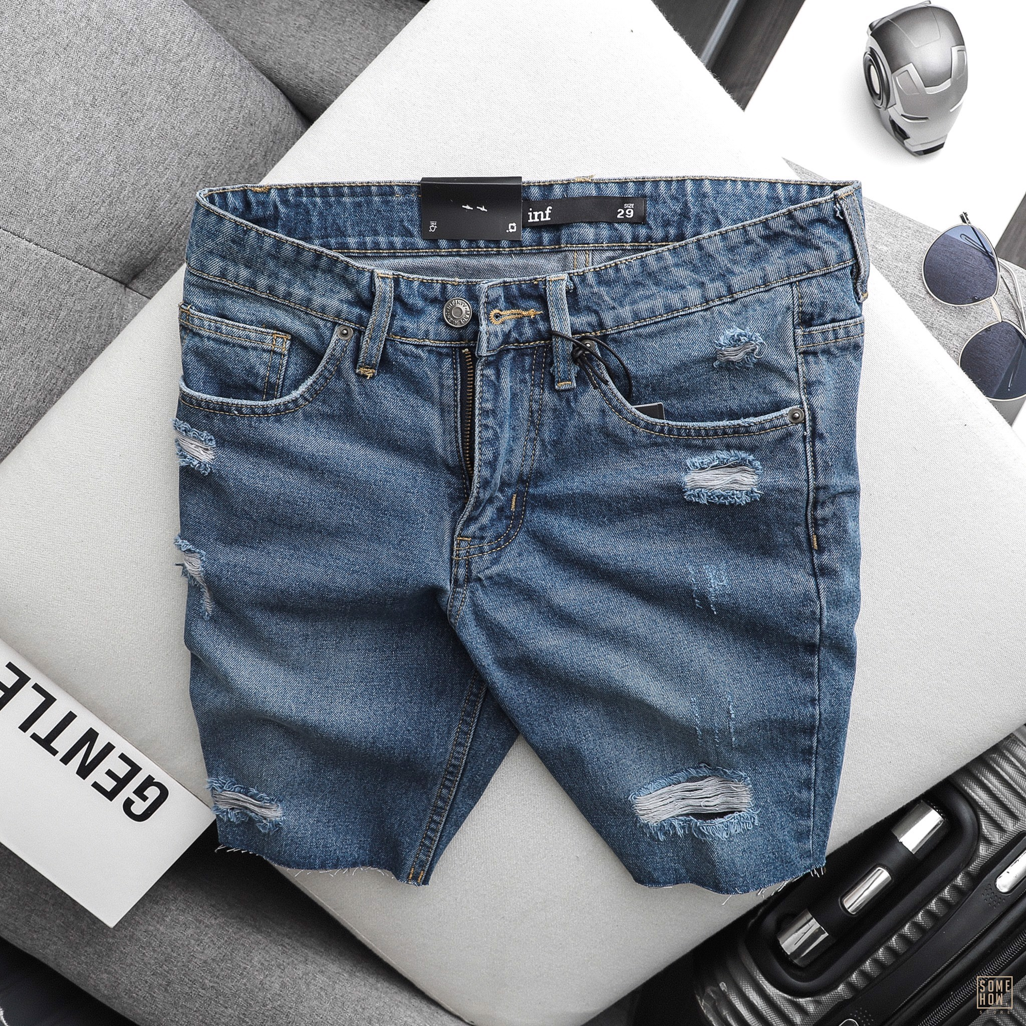Short Jean INF Xả Lai