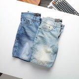 Short Jean Inf Wash Blue