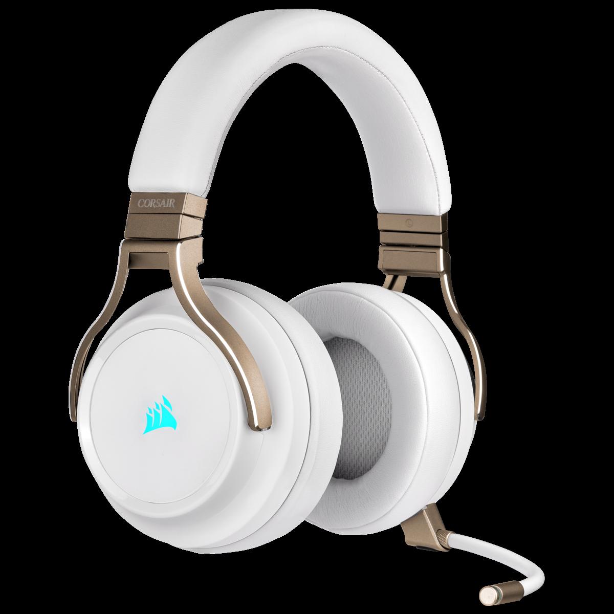 GEARVN.COM - Tai nghe Corsair Virtuoso RGB Wireless Pearl
