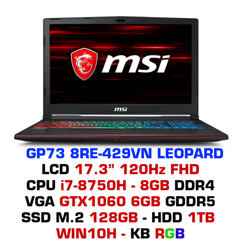 Laptop Gaming MSI GP73 8RE-429VN Leopard