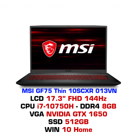 Laptop Gaming MSI GF75 Thin 10SCXR 013VN